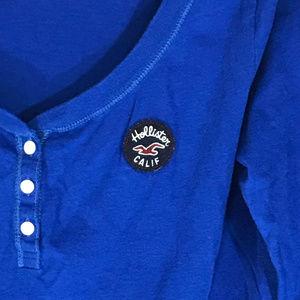 Hollister Long Sleeve button T Shirt